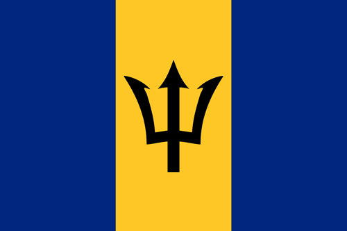 Barbados flag small