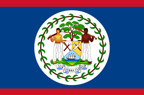 Belize flag small