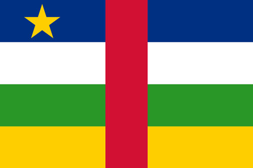 Central african republic flag small