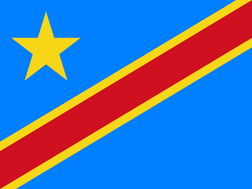 Congo democratic republic of the flag small