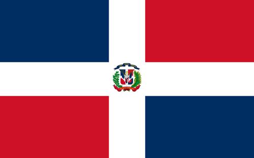 Dominican republic flag small