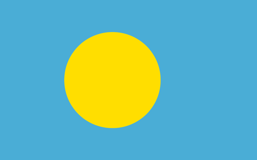 Palau flag small