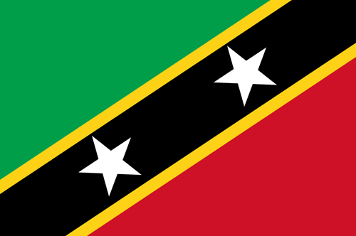 Saint kitts and nevis flag small