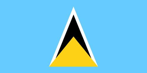 Saint lucia flag small
