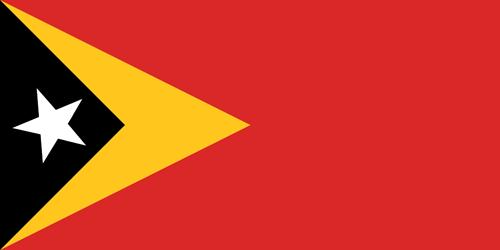 East timor flag small