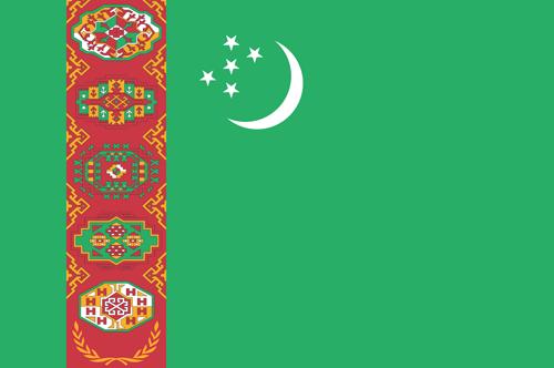 Turkmenistan flag small