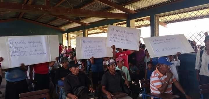 Protesta pacífica Comunitarios Wilus