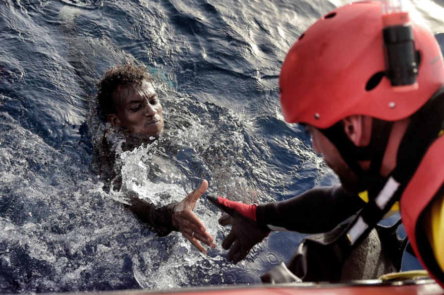 Migrant Pulled Out Of Water CSDM 2020 1