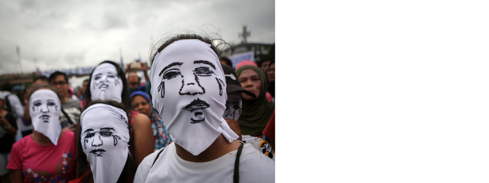 Extrajudicial Killings Covered faces Philippines